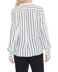 Vince Camuto - Multicolor Stripe Puff Sleeve Blouse - Lyst