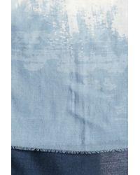 Frye - Blue Blaze Frayed Trim Wool Scarf - Lyst
