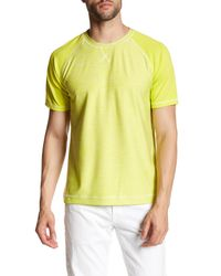 Robert Graham | Yellow Ionosphere Short Sleeve Active Fit Tee for Men | Lyst