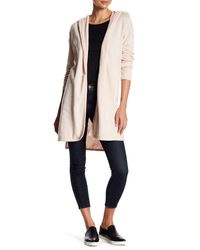 Sweet Romeo - Natural French Terry Hooded Cardigan - Lyst