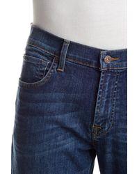 7 For All Mankind | Blue Carsen Easy Straight Leg Jean | Lyst