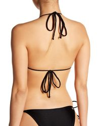 Cia.Marítima - Black Marrakesh Solid Triangle Bikini Top - Lyst