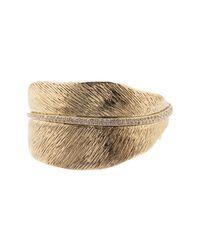 House of Harlow 1960 - Metallic Cedro Leaf Cuff Bracelet - Lyst