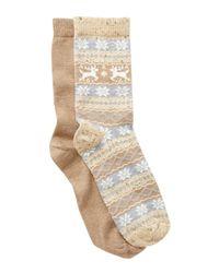 Hue - Multicolor Fair Isle Boot Socks - Pack Of 2 for Men - Lyst