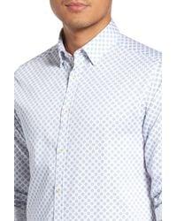 Ted Baker - White 'timbrook' Trim Fit Medallion Print Sport Shirt for Men - Lyst