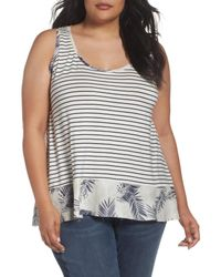 Caslon - Multicolor (r) Mix Print Tank (plus Size) - Lyst