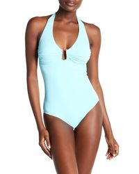 efe6a53399 Lyst - Melissa Odabash Halter One-piece Swimsuit in Blue