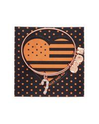 ALEX AND ANI - Metallic Candy Cane Charm Bracelet - Lyst