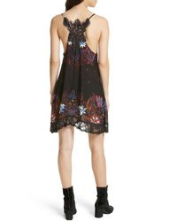 Free People - Black Who's Sorry Now Print Slipdress - Lyst