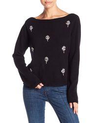 Muche Et Muchette - Black Rhinestone Accented Sweater Top - Lyst
