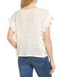 Ella Moss - Natural Crochet Pullover Top - Lyst