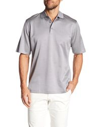 Bugatchi - Gray Mercerized Dotted Polo for Men - Lyst
