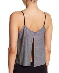 Only Hearts - Gray Metallic Jersey Flare Cami - Lyst