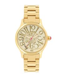 Betsey Johnson - Metallic Women's Swirl Dial Watch, 33mm - Lyst