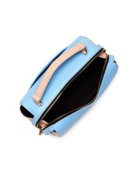 MILLY | Blue Astor Soft Leather Satchel | Lyst