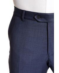 Ike Behar - Blue Sharkskin Two Button Notch Lapel Wool Suit for Men - Lyst