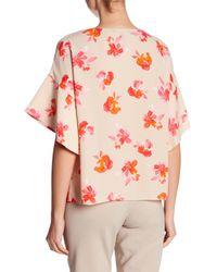 Ellen Tracy | Pink Handkerchief Sleeve Top | Lyst