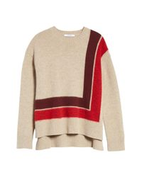 10 Crosby Derek Lam - Red Crewneck Blanket Sweater - Lyst