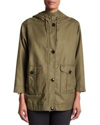 Joie - Green Camea Hooded Jacket - Lyst