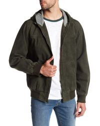 Levi's - Green Hooded Canvas Jacket for Men - Lyst