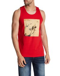 Altru - Red Beach Tank for Men - Lyst