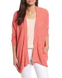 Caslon - Pink (r) Drop Shoulder Cardigan (regular & Petite) - Lyst