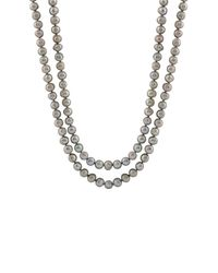 Splendid - 8-10mm Gray Freshwater Endless Pearl Necklace - Lyst