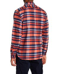 Psycho Bunny | Multicolor Plaid Flannel Long Sleeve Shirt for Men | Lyst