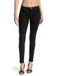 Hudson - Black Mid Rise Skinny Leg Jeans - Lyst