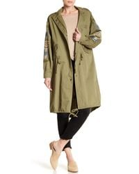 Nanette Nanette Lepore - Green Army Embroidered Anorak - Lyst