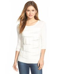 Vince Camuto - White Zigzag Sweater - Lyst
