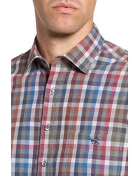RODD AND GUNN - Blue Brookview Sports Fit Plaid Sport Shirt for Men - Lyst
