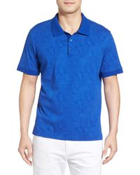 Robert Graham - Blue Pebbles Paisley Print Jersey Polo for Men - Lyst