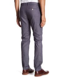Ted Baker - Gray Shiresy Slim Fit Trousers for Men - Lyst