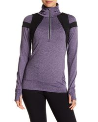 Hpe - Purple Heathered Stretch Pullover - Lyst