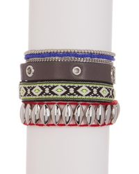 Rebecca Minkoff - Multicolor Mixed Media Wrap Bracelet - Lyst