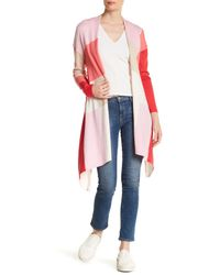 In Cashmere - Pink Colorblock Cardigan - Lyst