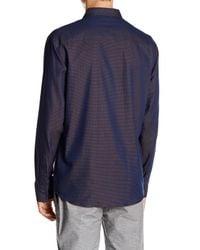 Vince Camuto   Blue Slim Fit Print Sport Shirt for Men   Lyst