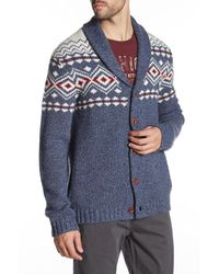 Lucky Brand | Blue Lambswool Lodge Cardigan for Men | Lyst