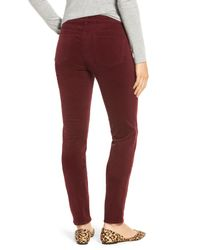 Kut From The Kloth - Red Diana Stretch Corduroy Skinny Pants (petite) - Lyst