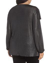 Sejour - Multicolor Long Sleeve Ruffle Top (plus Size) - Lyst
