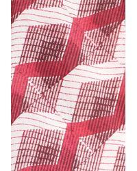 Halogen - Pink Diamond Print Skinny Silk Scarf - Lyst