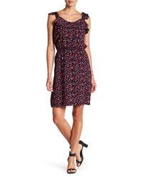 Joe Fresh - Purple Ruffle Floral Print Dress - Lyst