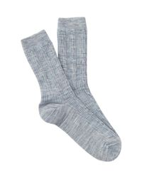 Smartwool | Blue Cable Knit Crew Socks for Men | Lyst