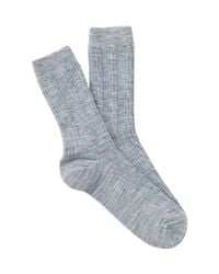 Smartwool - Blue Cable Knit Crew Socks for Men - Lyst