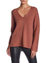 Vince | Multicolor V-neck Cashmere Sweater | Lyst