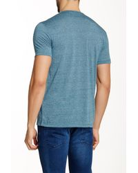 John Varvatos Blue Crew Neck Tee for men