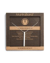 Mantraband - Metallic To The Moon & Back Pendant Necklace - Lyst