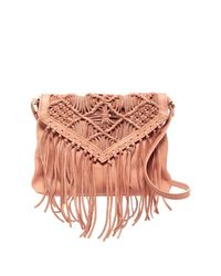 Day & Mood - Multicolor Violet Macrame Leather Crossbody Bag - Lyst