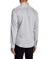 Dockers - Gray Solid Twill Woven Shirt for Men - Lyst